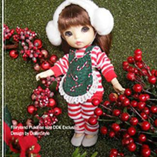 AnyDollStyle PukiFee 15.5cm Christmas Mini Candy Cane