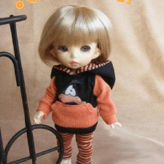 AnyDollStyle PukiFee 15.5cm Hoodie Set Orange