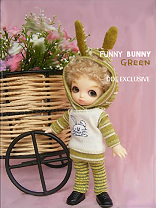 AnyDollStyle PukiPuki 11cm Bunny Funny Green