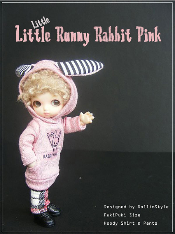 AnyDollStyle PukiPuki 11cm Little Runny Rabbit Pink