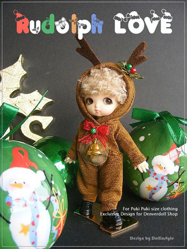 AnyDollStyle PukiPuki 11cm Rudolph Love