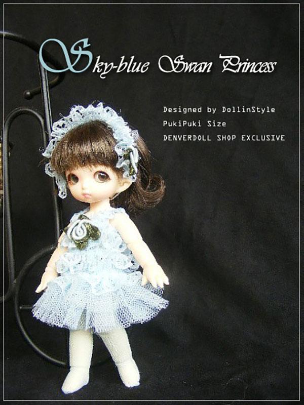AnyDollStyle PukiPuki 11cm Swan Princess Blue