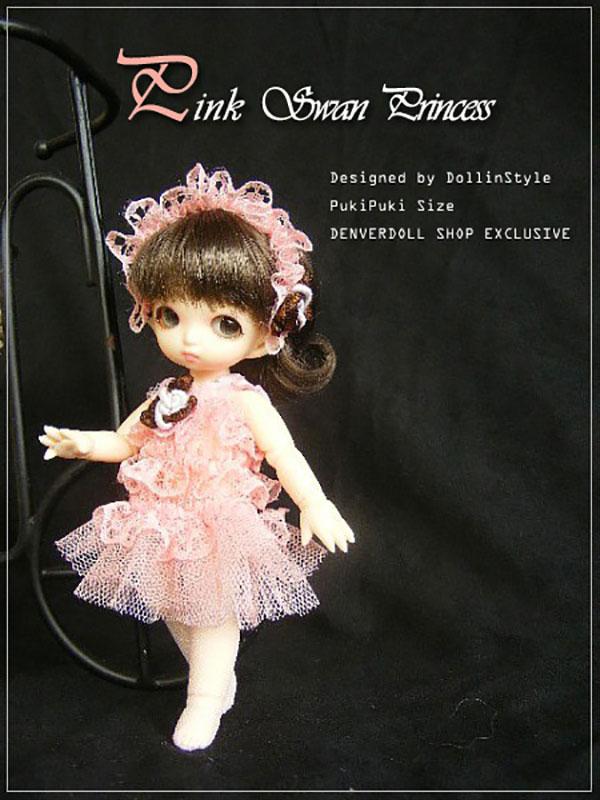 AnyDollStyle PukiPuki 11cm Swan Princess Pink