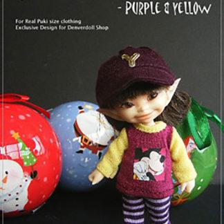 AnyDollStyle RealPuki 9.5cm Club House Purple Yellow