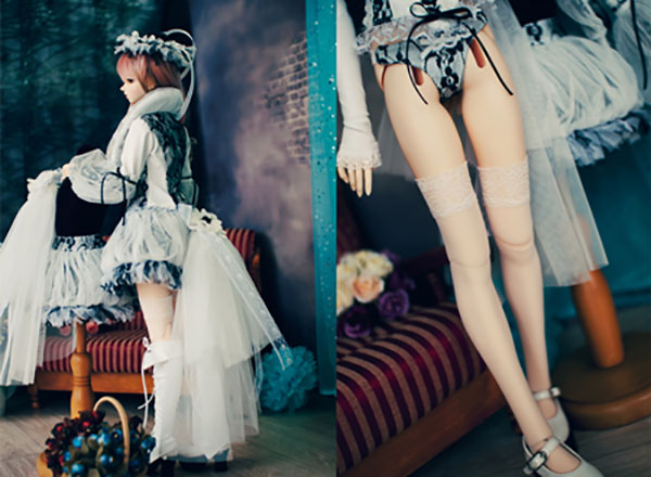 CheeryDoll SD13 Chic Punk White Outfit
