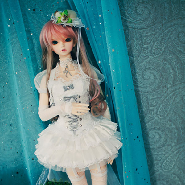 CheeryDoll SD16 Lolita Mini White Outfit