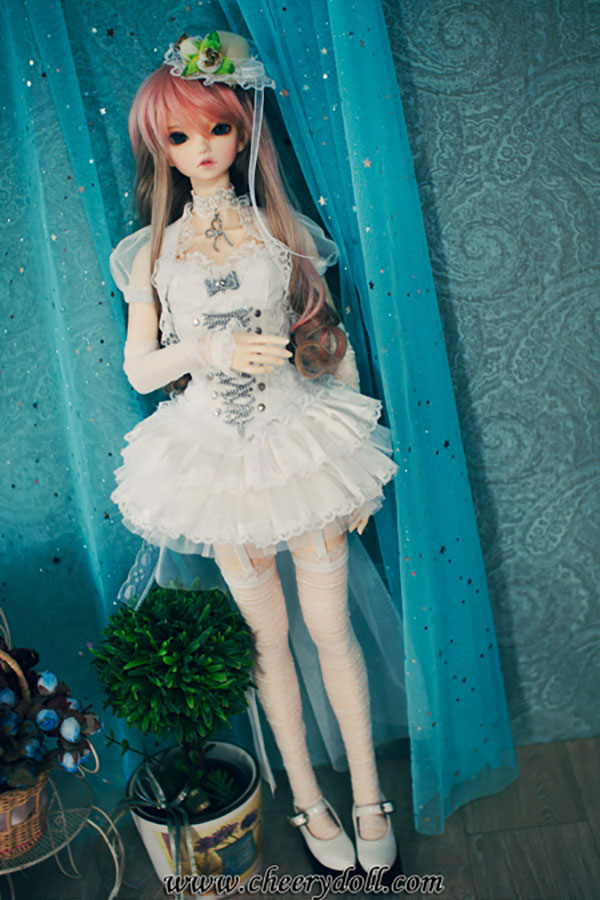 CheeryDoll SD16 Lolita Mini White Outfit