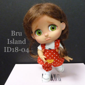 island doll bru id1804 tan brown braids