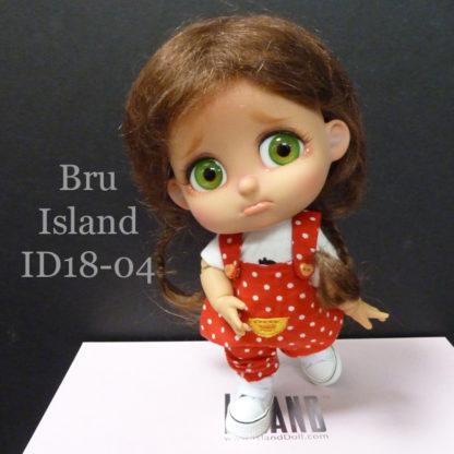 island doll bru id1804 tan brown braids