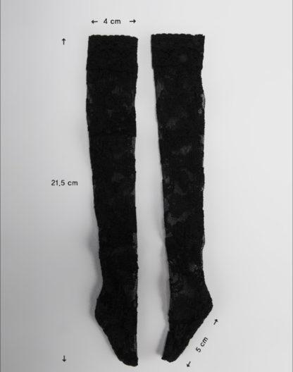 doll more msd spandex band stockings black