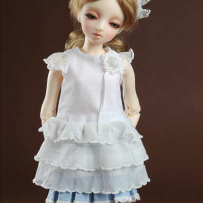 dollmore msd sorisomim dress white
