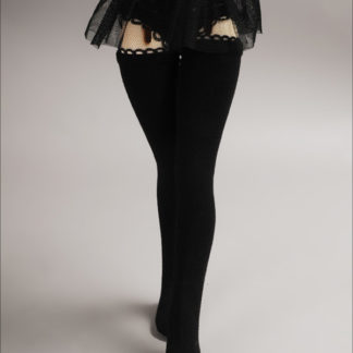 doll more msd spandex band stockings black