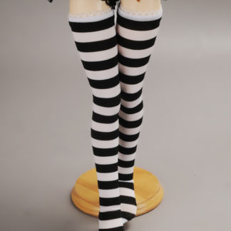 dollmore msd striped stocking black and white