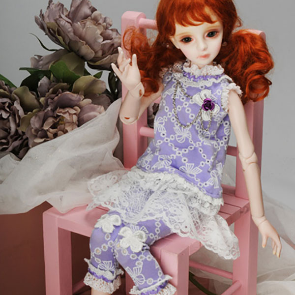Dollmore Kids MSD Jenny Violet Dress Outfit