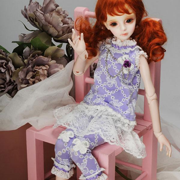 Dollmore Kids MSD Jenny Violet Dress Outfit