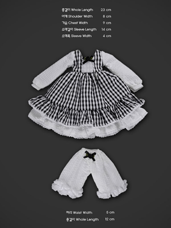 Dollmore Kids MSD Ripple Dress Set Outfit