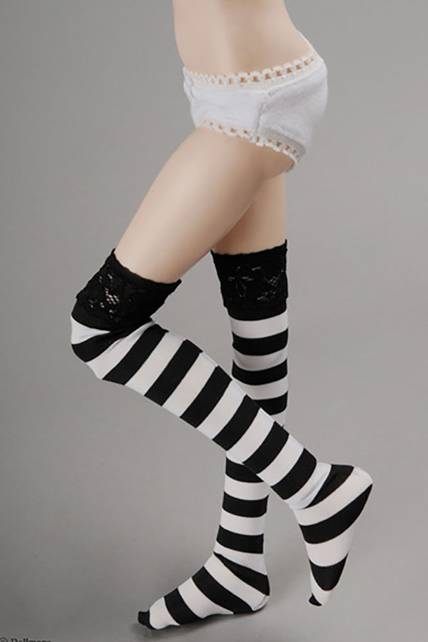 Dollmore Kids MSD Ropia Black and White Stripe Long Stockings Outfit