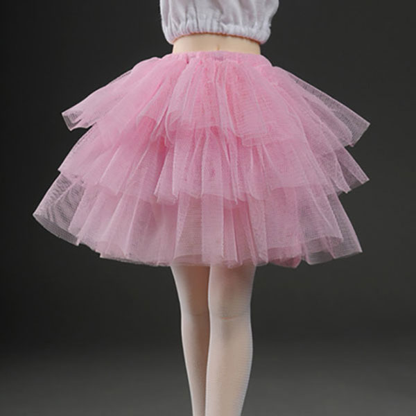 Dollmore Kid MSD Triple Layer Swan Skirt Pink Outfit