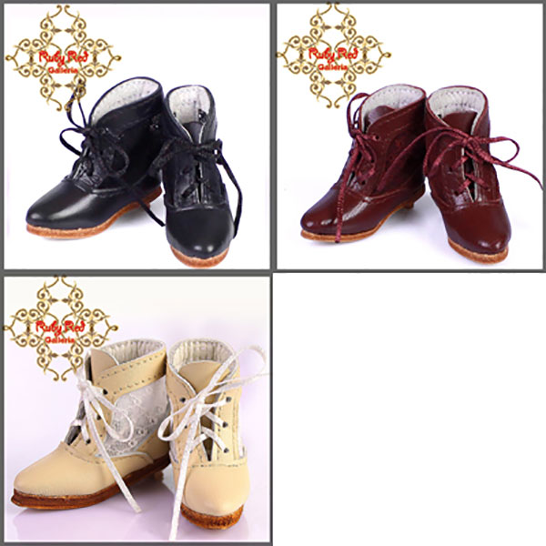 RubyRed Galleria Bleuette Leather and Lace Boots