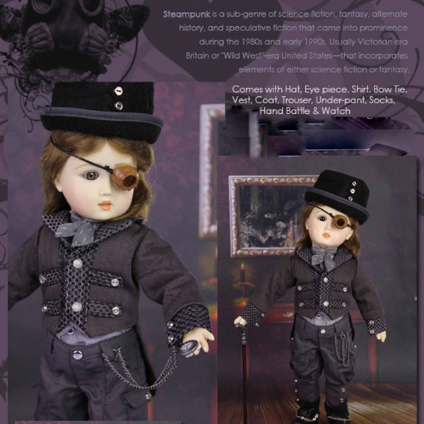 RubyRed Galleria Bleuette Mr. Time Watcher Steampunk Outfit