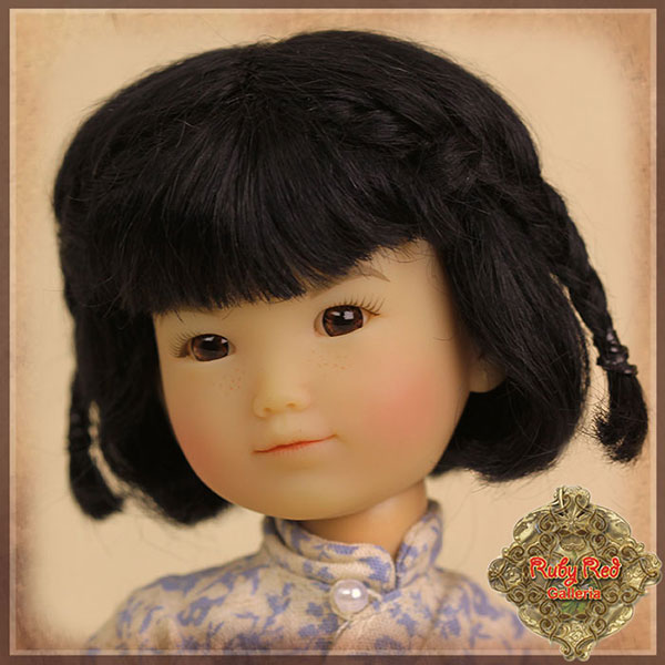 RubyRed Galleria Size 5/6 Ten Ping Wig Black Mohair With with Braids