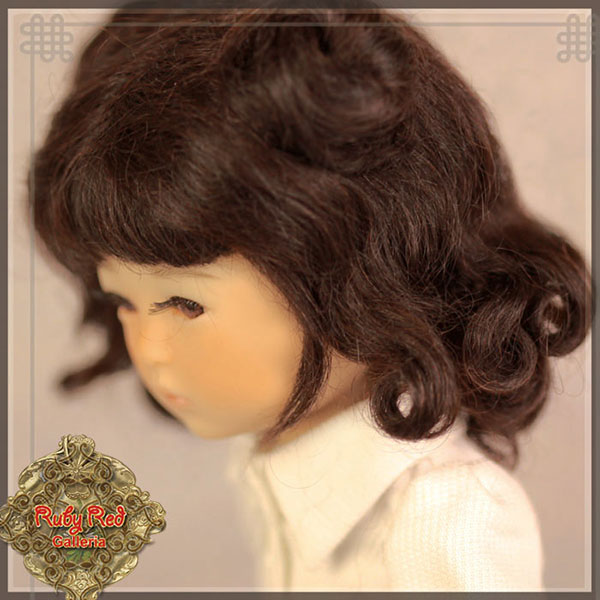 RubyRed Galleria Size 5/6 Ten Ping Black Mohair Wig with Long Curls
