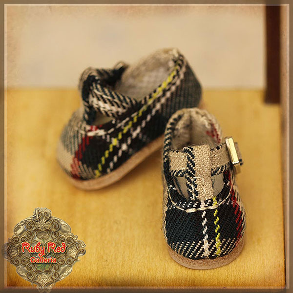 RubyRed Galleria Ten Ping Checked Mary Janes Shoes