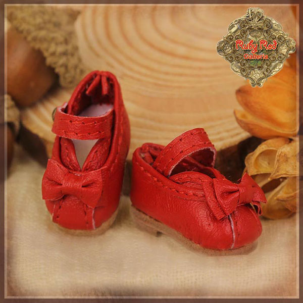 RubyRed Galleria Ten Ping Red Leather Shoes