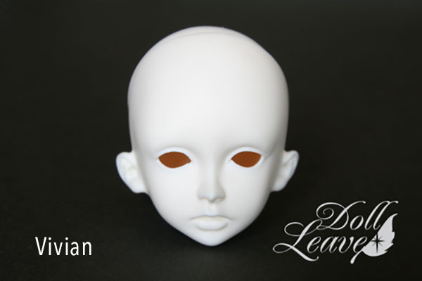 DollLeaves Parts MSD Girl Head Vivian
