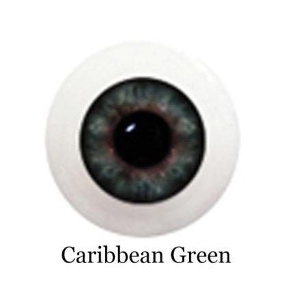 glib eyes acrylic caribbean green