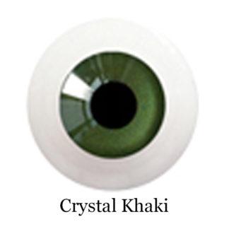 glib eyes acrylic crystal khaki