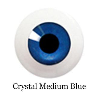 glib eyes acrylic crystal medium blue