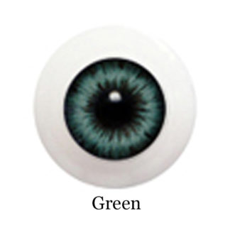 glib eyes acrylic green