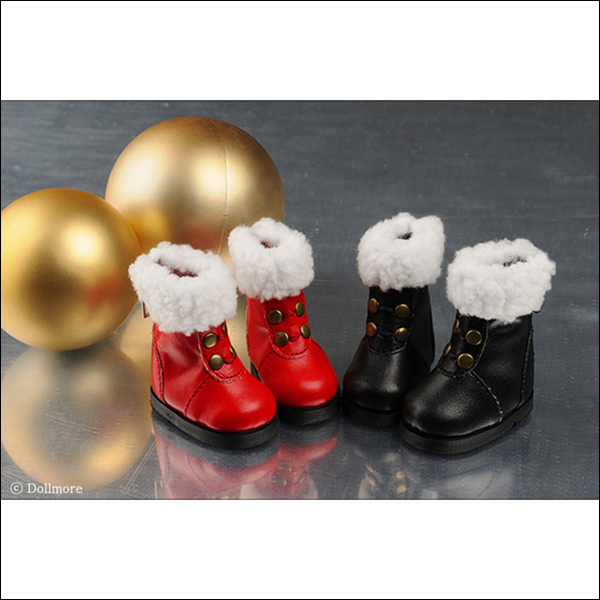Dollmore YoSD Black Red Adrienn Boots Shoes