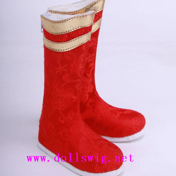 Jinny MSD Red Ming Boots Shoes