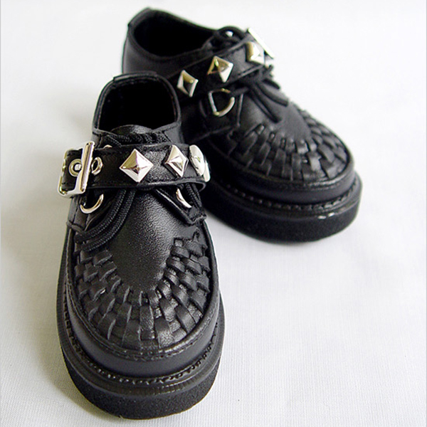 LeekeWorld MSD Black Checkers Shoes