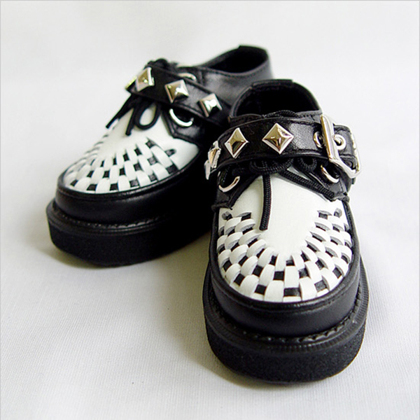 LeekeWorld MSD Black White Checkers Shoes