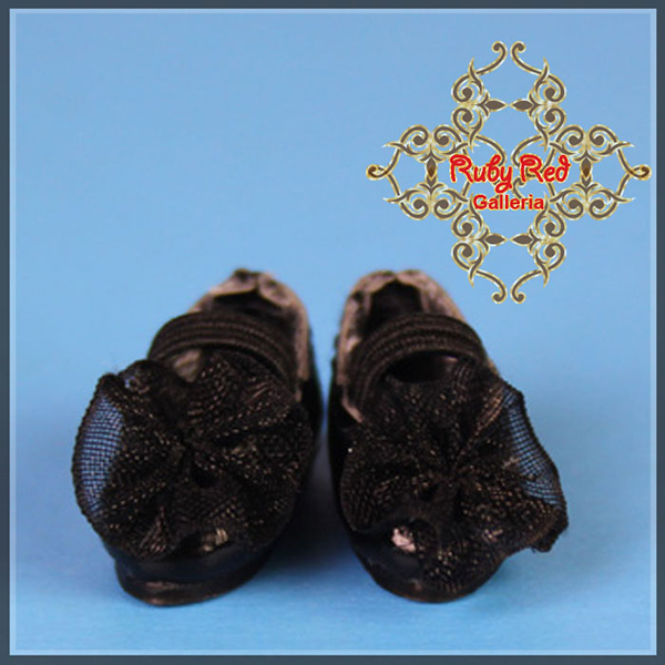 RubyRed Galleria Tiny Black Ballet Shoes