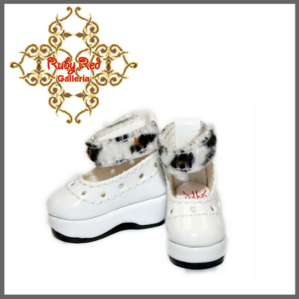 RubyRed Galleria Tiny White Platform Shoes