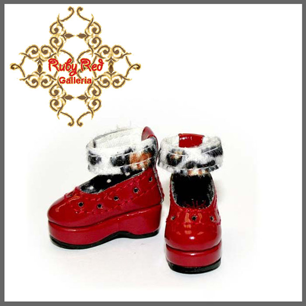 RubyRed Galleria Tiny Red Platform Shoes