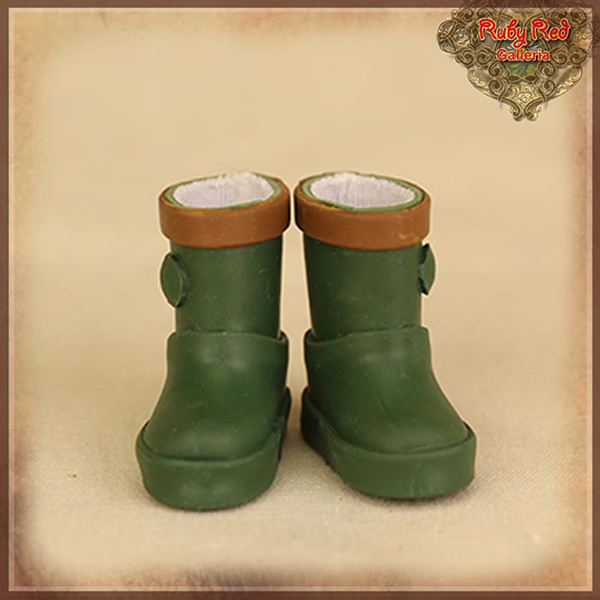 RubyRed Galleria Tiny Forest Green Rain Boots