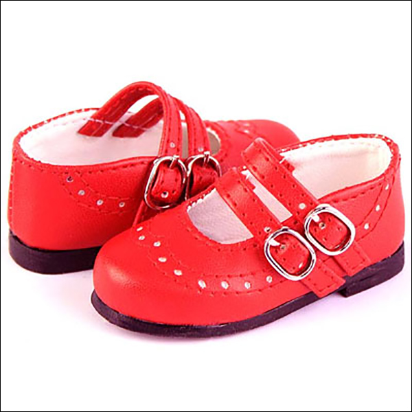 RubyRed Galleria MSD Red Double Strap Mary Jane Shoes