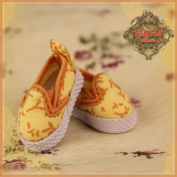 RubyRed Galleria Tiny Orange Slip-On Shoes