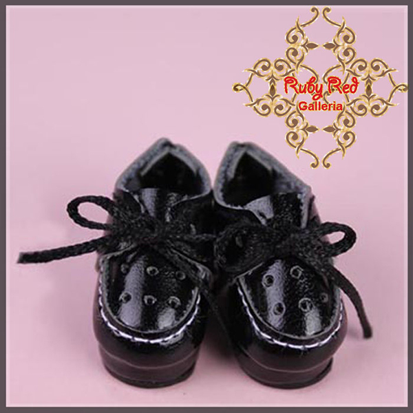 RubyRed Galleria Tiny Black Walking Shoes