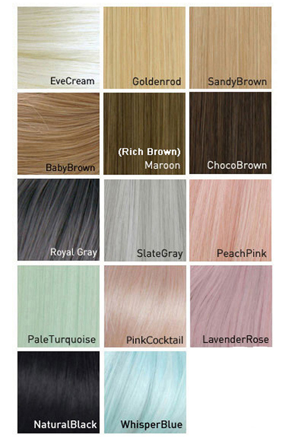LeekeWorld Wig Colors