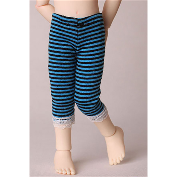Youth Mid-Calf Striped Leggings