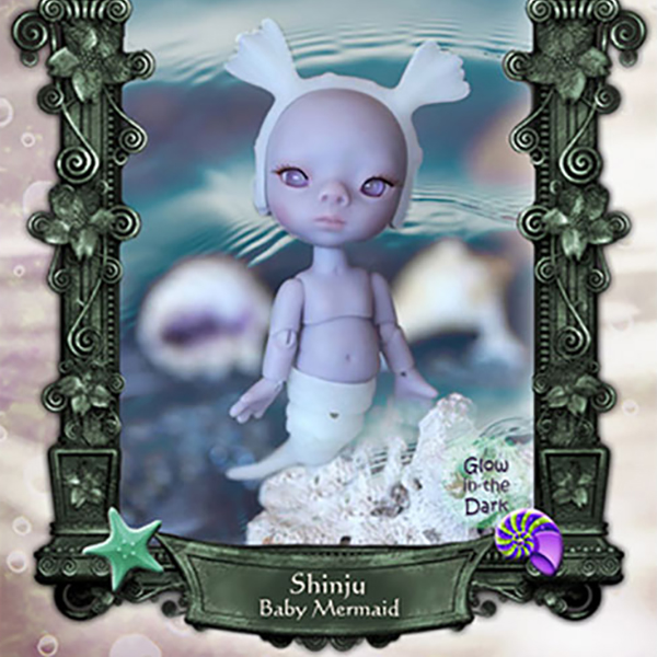 Charles Creature Cabinet Tiny BJD Shinju Basic Pet Baby Mermaid