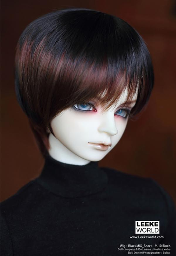 LeekeWorld Wig ART Black Mix Short