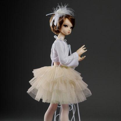 dollmore msd swan skirt ivory