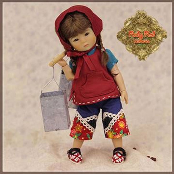 Ruby Red Ten Ping Twin Work Clothes